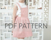 Macy Pinafore PDF,suspender skirt pdf,pinafore PDF,pinny pattern, tween pinafore, sewing patterns, girl patterns, toddler pdf, kids patterns