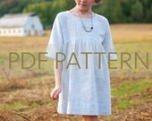 Camden Dress PDF, girl sewing pattern, easy dress pattern, toddler dress pdf, girl pdf, sewing pdf, tween dress pattern, kids pattern