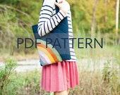 Raine Tote PDF, rainbow tote bag, purse patterns, bag pattern, easy tote pdf, rainbow pdf, tote patterns, little purse pattern, jillyatlanta