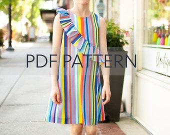 939aba77631b0 Birdie Dress PDF, girl dress pattern, vintage style pdf, ruffle dress, girl  pdf, sewing patterns, sewing, pdf sewing patterns, jillyatlanta