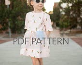 Marlow Dress PDF, girl dress pattern, girl patterns, dress pdf, girl sewing pattern, kids pattern, girl pdf, sewing pattern, kids sewing