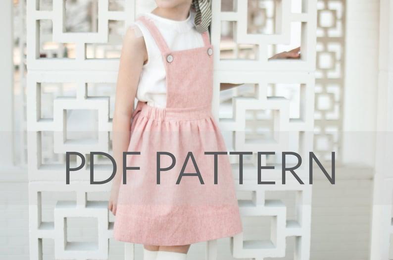 Macy Pinafore PDFsuspender skirt pdfpinafore PDFpinny image 0