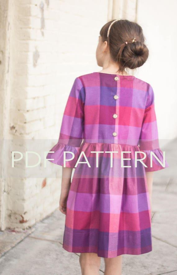 16726c74c961 Marlow Dress PDF girl dress pattern girl patterns dress