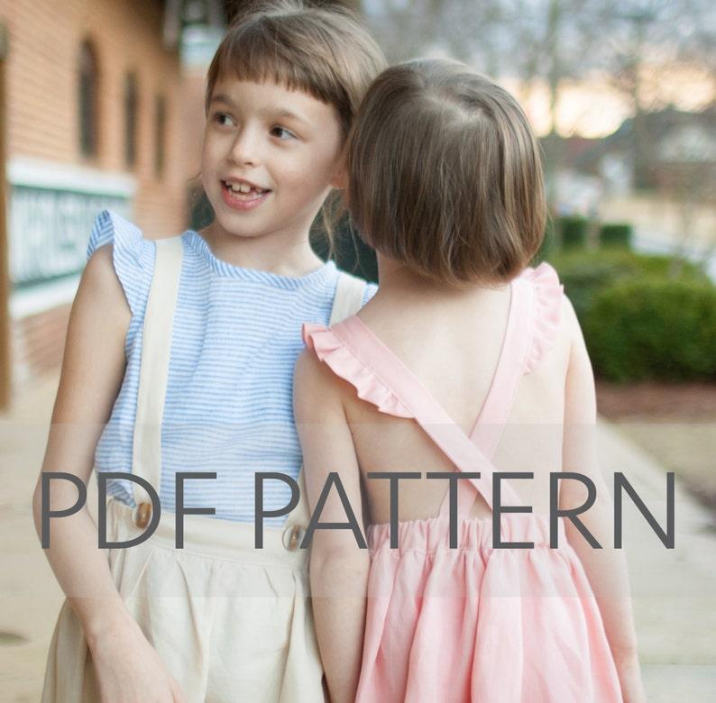 Macy Pinafore PDF suspender skirt pdf pinafore pattern image 0