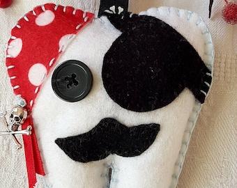 Felt handmade Pirate Tooth Fairy Pillow