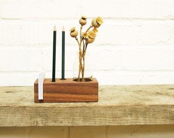 Pen Holder, Wood Desk Organizer. Wooden Pencil Holder, Wood Desk Storage, Desk Organizer, Office Organization.