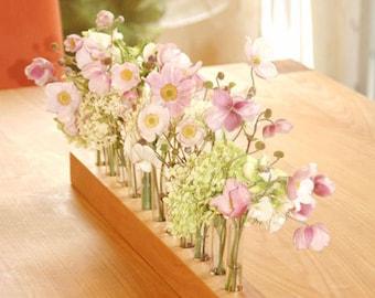 wooden bud vase with testubes,  - 2 -