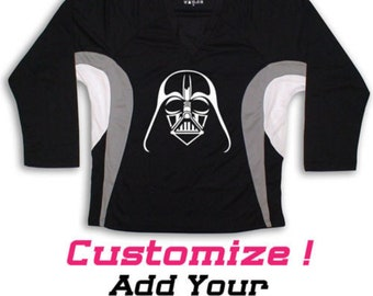 0b0b67358 Darth Vader Star Wars Graphic On Hockey Jersey Name   Number too! Kids  Sizes (Adults too)
