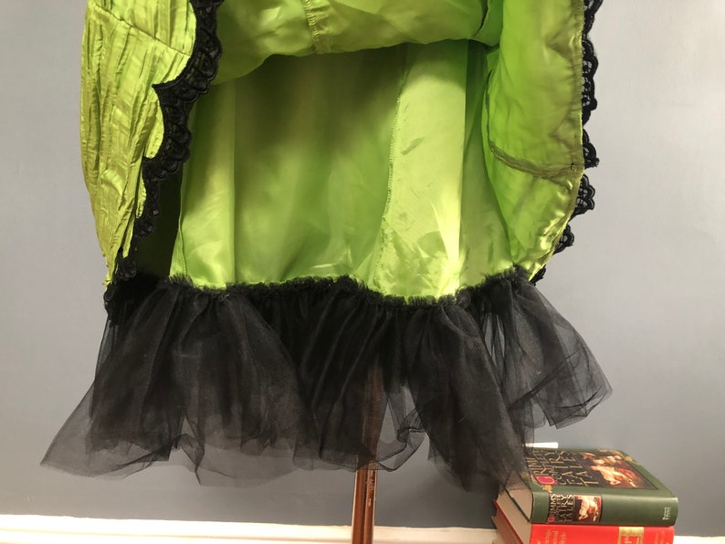 S  1980s Jessica McClintock for Gunne Sax Dress  Chartreuse Party Dress  80s Madonna Dress  Tulle Prom Dress