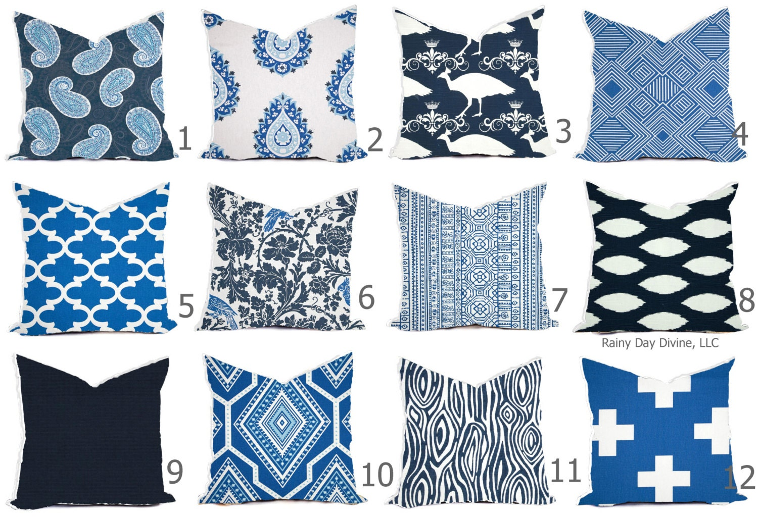Pillow Cover Throw Accent Decor Custom All Sizes 16x16 18x18