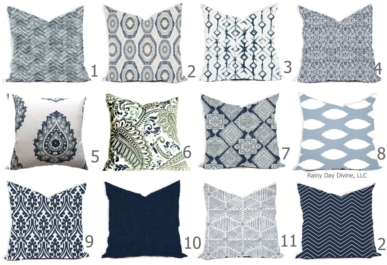 Pillow Covers Vintage Indigo Blue Light Blue World Market Traveler
