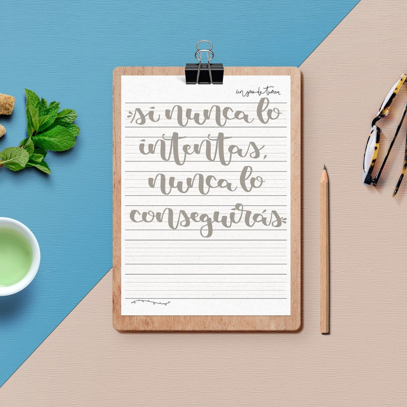 Palabras y Frases de Lettering  Hojas de práctica para image 0