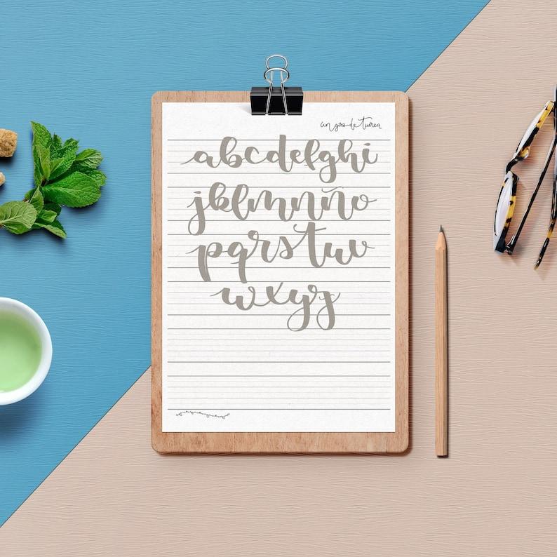 Abecedario de Lettering  Hojas de práctica para rotulador con image 0