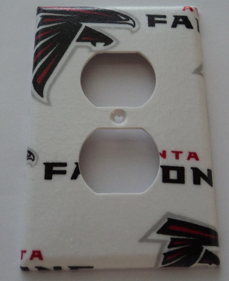 competitive price 08a44 16483 Atlanta Falcons Print Outlet Plate Cover
