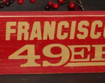 San Francisco 49ers Wooden Wall Sign