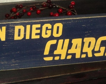 San Diego Chargers Wooden Wall Sign
