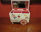 Vintage Hurdy Gurdy Musical Jewelry Box