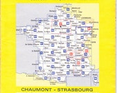 French Michelin Road Map