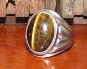 Vintage Tiger Eye Silver ...