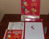 Red Walt Disney Electric Drawing Set 1960s