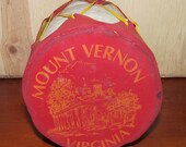 Mount Vernon Virginia Souvenir Drum 1950s