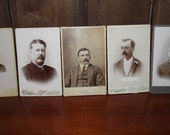 Antique Cabinet Card Photos of Men