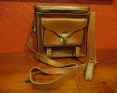 Vintage Leather Camera Tote