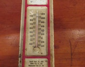 Awesome Vintage Tin Advertising Thermometer