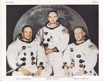 Apollo 11 Crew Photo-lithograph