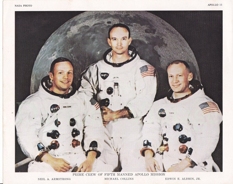 Apollo 11 Crew Photo-lithograph image 0