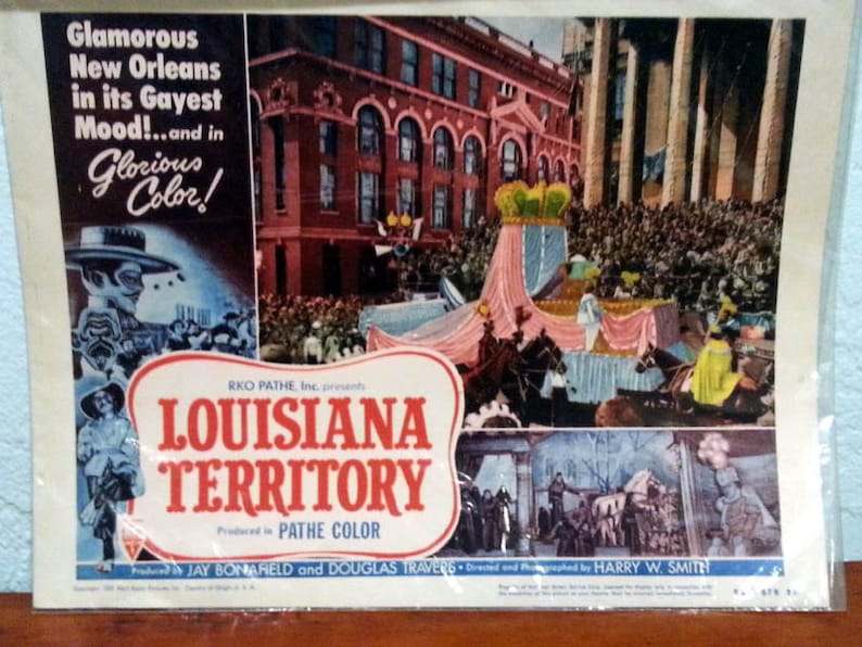 Lobby Card from the 1953 film Louisiana Territory image 0
