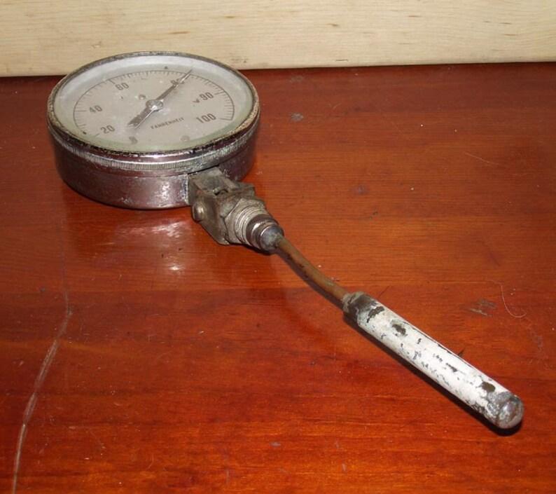 Old Marshalltown Mfg Industrial Boiler Thermometer image 0