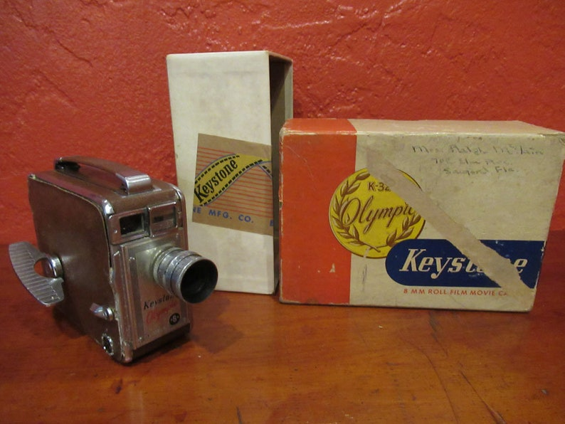 Keystone 8mm Roll Film Movie Camera image 0