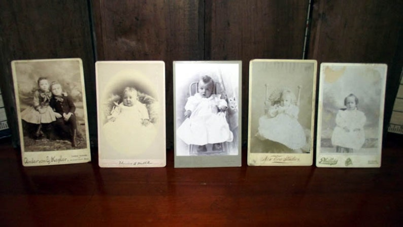 Antique Cabinet Card Photos of Babies image 0
