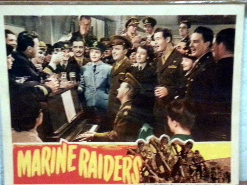 Lobby Card From The 1944 Film Marine Raiders