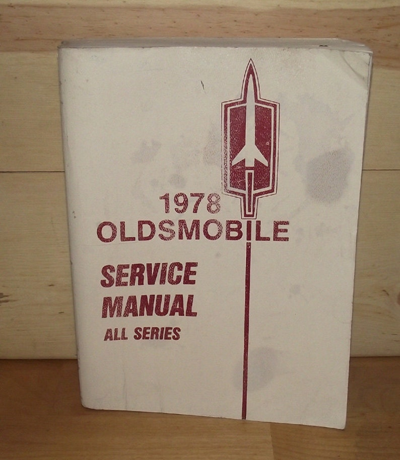 1978 Oldsmobile Service Manual image 0