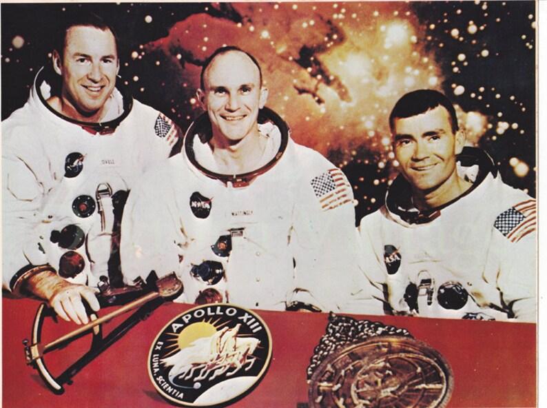 Vintage Apollo XIII Crew Photo Collectible image 0