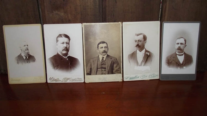 Antique Cabinet Card Photos of Men image 0