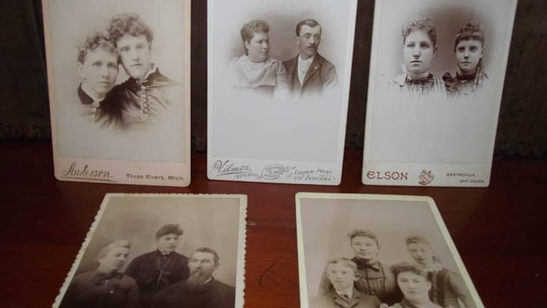 Antique Cabinet Card Photos of Families image 0