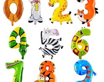 Number Animal Balloons Party Decoration