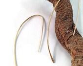 Gold Fill Modern Minimal  Slip On Earrings