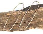 Modern Long Gold Staple Earrings //Silver Earrings
