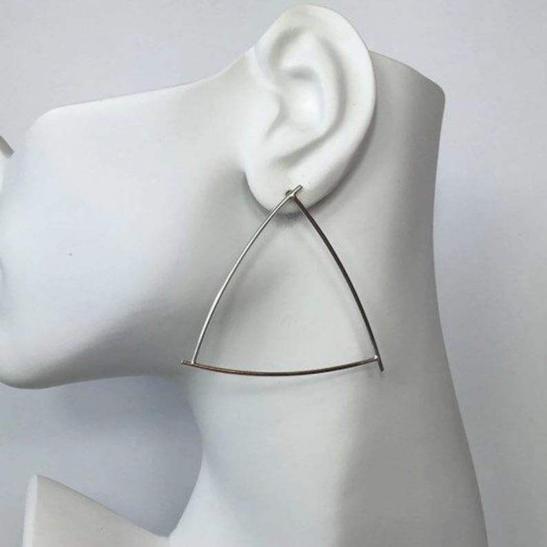 Silver Geometric Shape Earrings  Gold Geometric  Minimal Silver