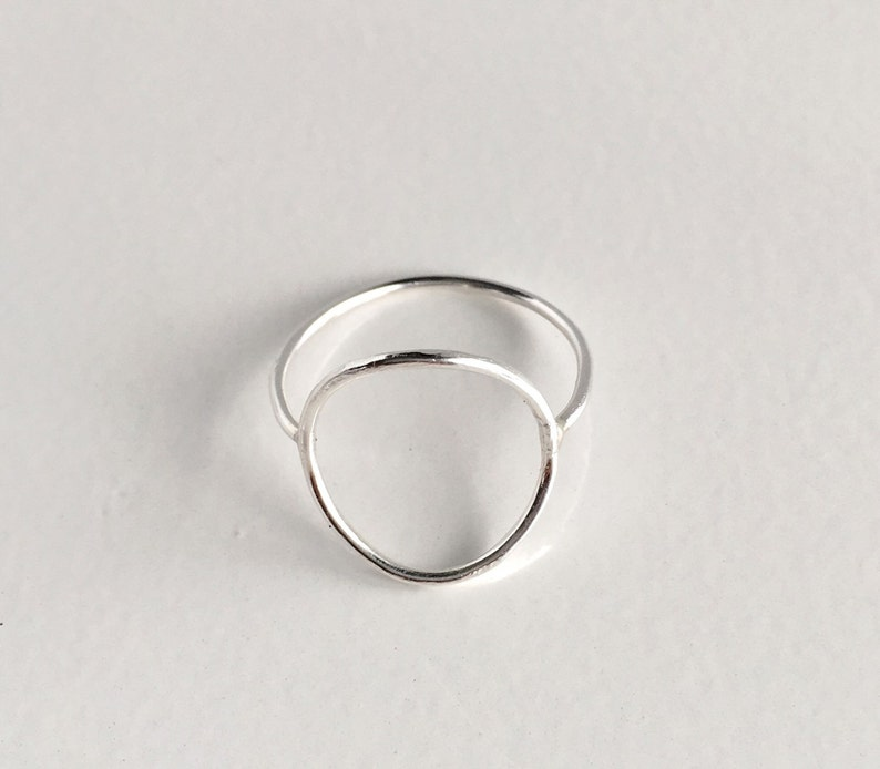 Boho Silver Infinity Ring-Sterling Silver-14K Gold Fill Rings Silver