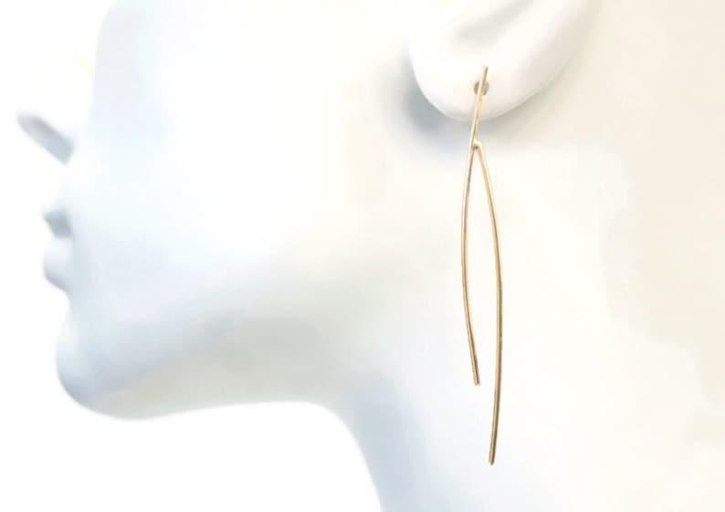 Modern Wishbone Earrings image 0