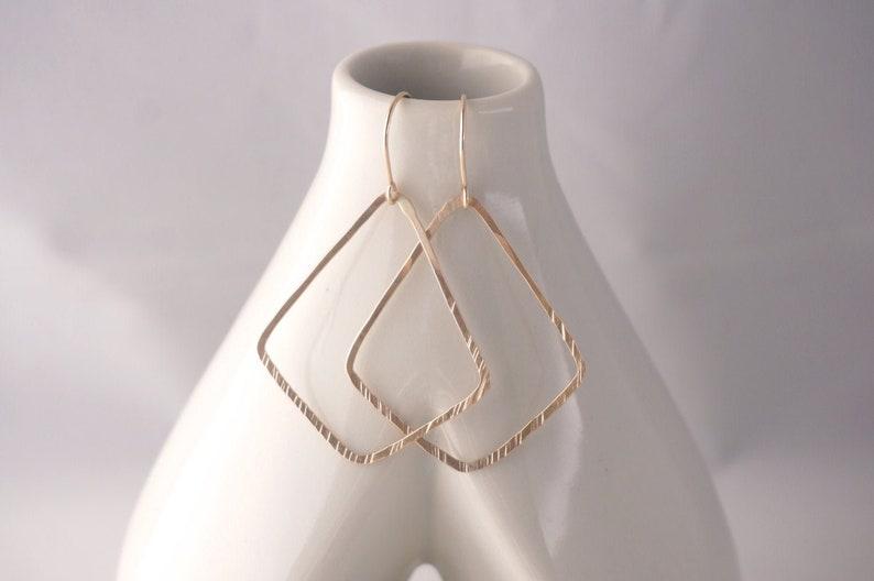 Gold Geometric Shape Dangle Earrings  Silver Geometric Dangle image 0