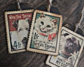Pet gift tags, small gift tag, wooden tag, tag lable, bottle tags, wooden tags, gift tags, dog gift, cat gift, drink tag, pot label.