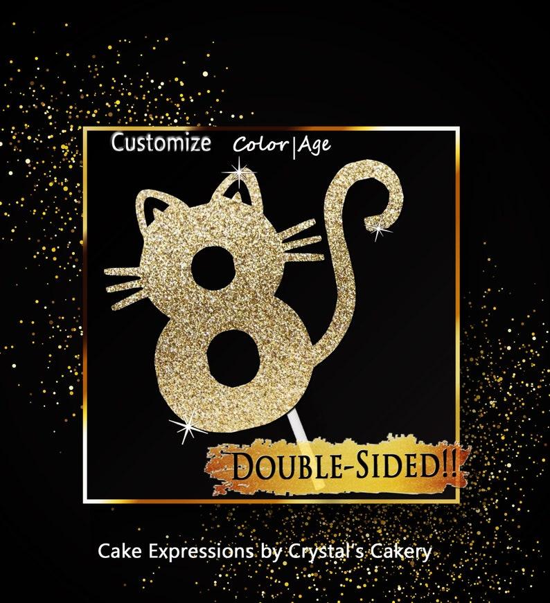 Kitty Cake Topper Cat 8th Birthday