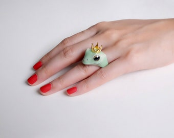 Frog Prince Ring, Frog ring, Original.