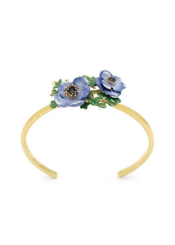Flower Ring Anemone Bangle Violet Anemone flower